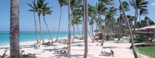 Plaża Punta Cana przed luksuowym kompleksem Grand Palladium Bavaro, Punta Cana i Palace